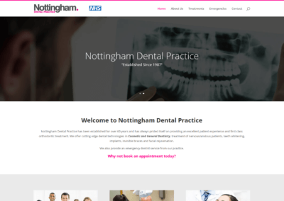 Nottingham Dental Practice Website